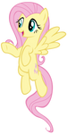 Fluttershy Hovering by AndoAnimalia