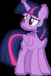 Twilight Sparkle looking back at Rainbow Dash
