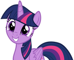 Twilight Sparkle with an Innocent Grin by AndoAnimalia