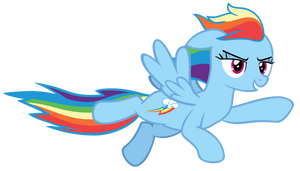Rainbow Dash Zooming By Awesomely