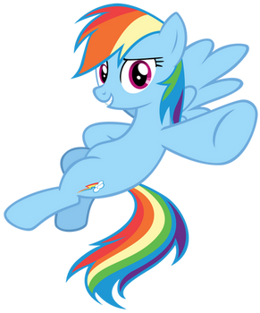 Rainbow Dash pointing to you