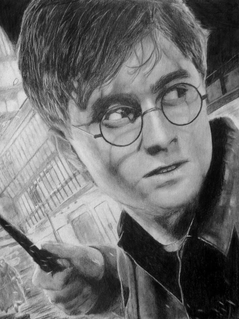 how to draw harry potter step by step slowly realistic