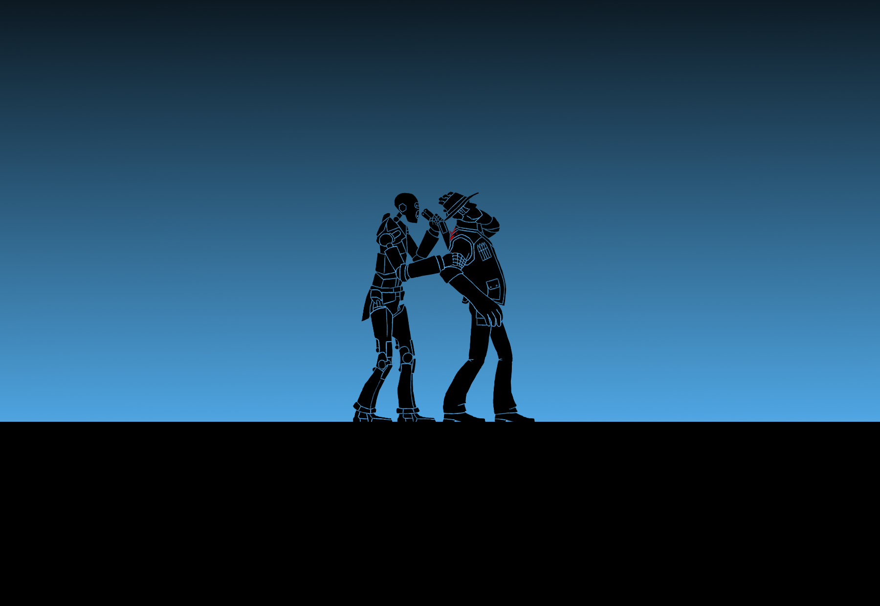 TF2 Spy Bot X Sniper Wallpaper By Bielek