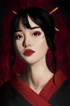Cyberpunk Geisha