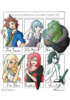 Give me six characters to make fanart of! Fabidark