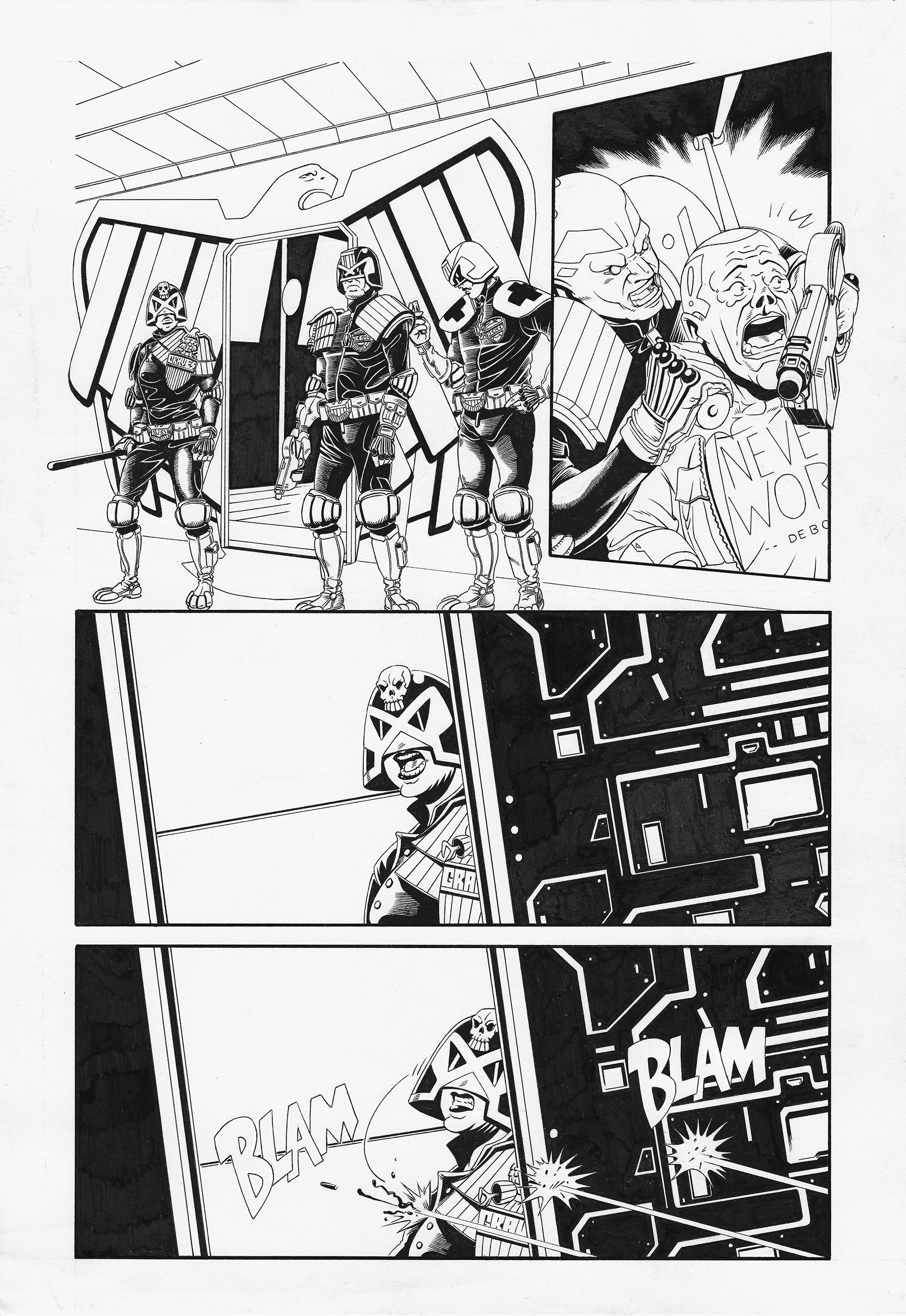 Judge Dredd: Interrogation 2 by AaronSmurfMurphy