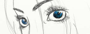 eye sketch by AMYisC0P1C