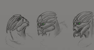 turian facial sketch by AMYisC0P1C