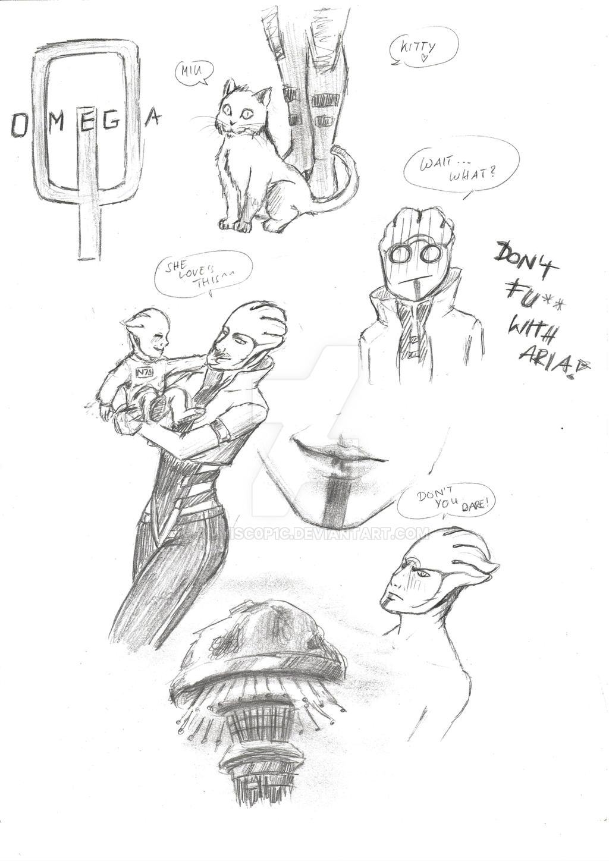 Aria T'Loak - Sketches by AMYisC0P1C