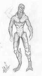 Turian male sketch