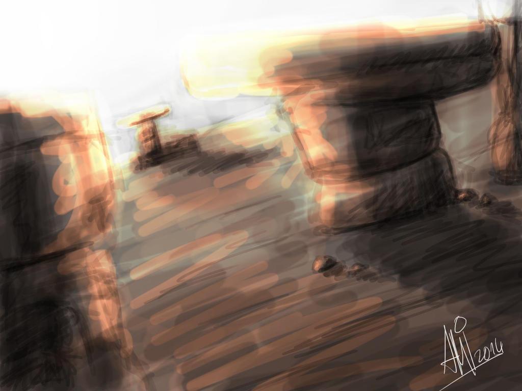 Landscape doodle by AMYisC0P1C