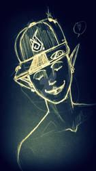 demon with cap