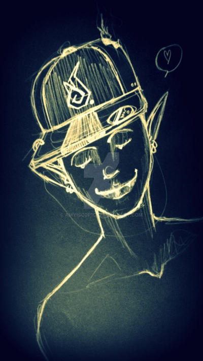 demon with cap by AMYisC0P1C