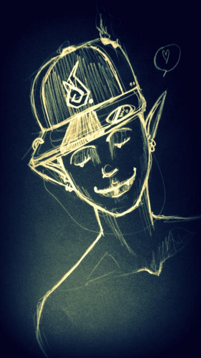 demon with cap