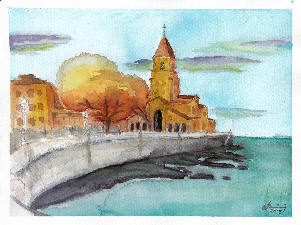 Watercolour 2 Gijon by Arcybiskup