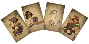 The hunchback of Notre Dame cards