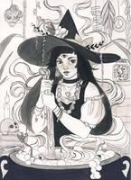 Inktober 2017 - Witch's brew by Celiarts