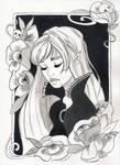 Inktober 2017 - Vampire's kiss