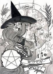 Inktober 2017 - Witch way ? by Celiarts