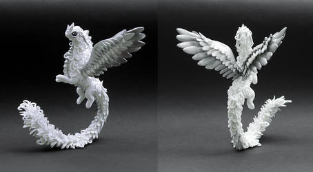 White and silver dragon