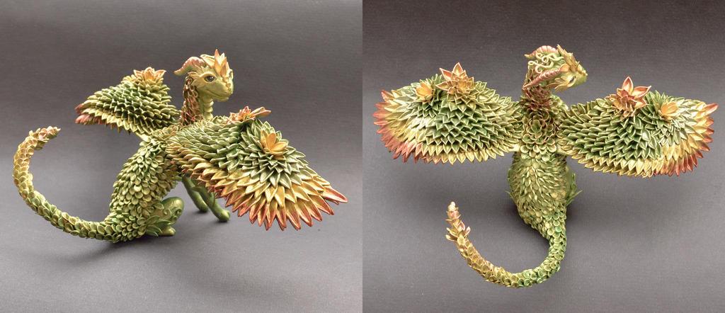 Green dragon by MyOwnDragon