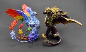 Dragon and Rainbow Phoenix