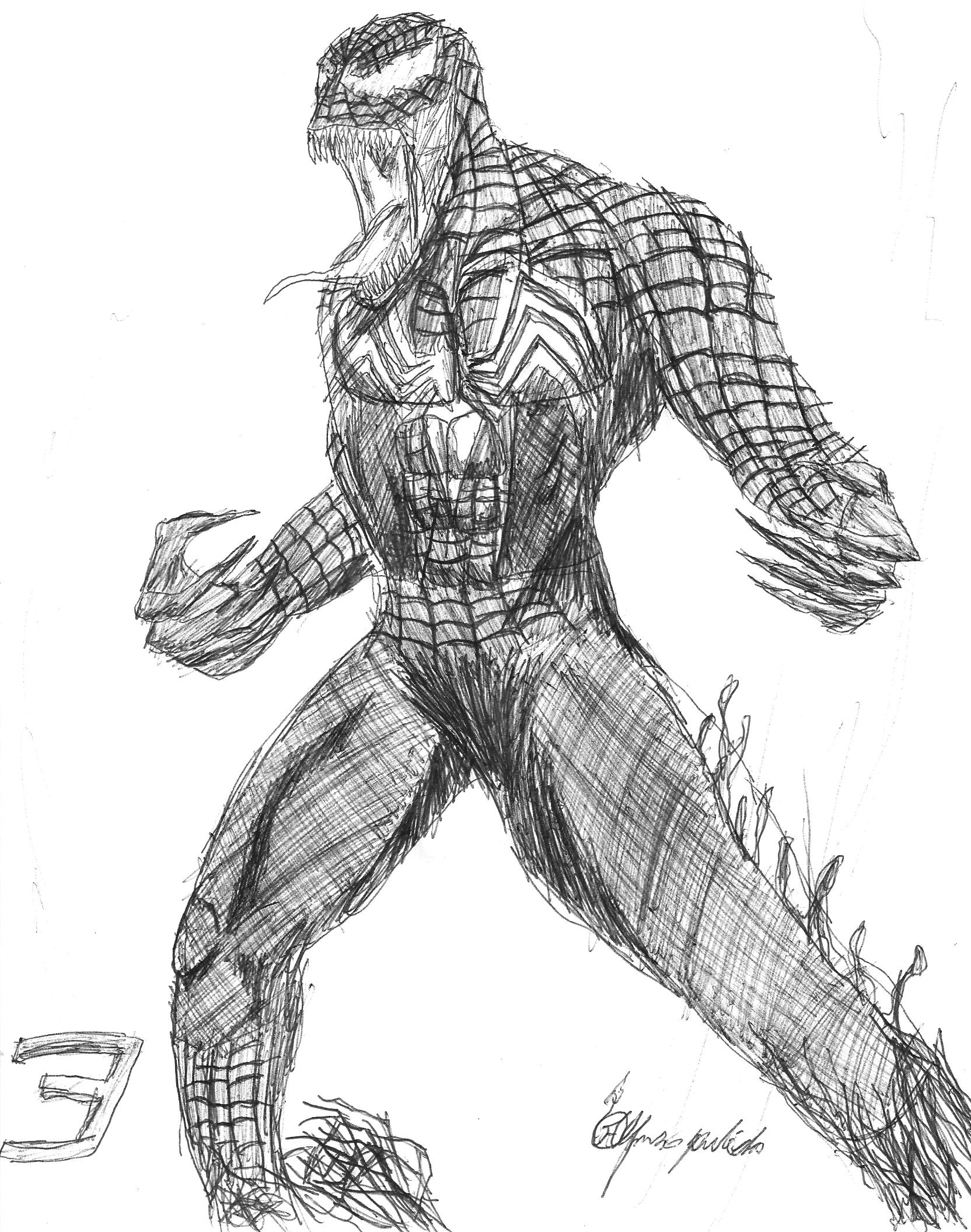venom from spiderman 3 by twilightor traditional art drawings pop art    Venom Spiderman 3 Drawings