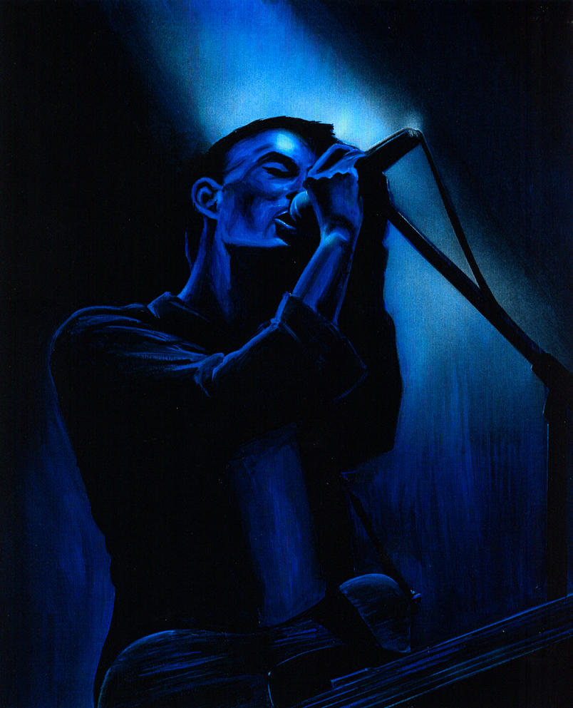 Radiohead Thom Yorke Painting by shelleyinez