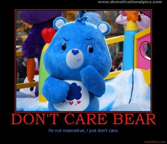 Dont Care Bear aka Grumpy Bear