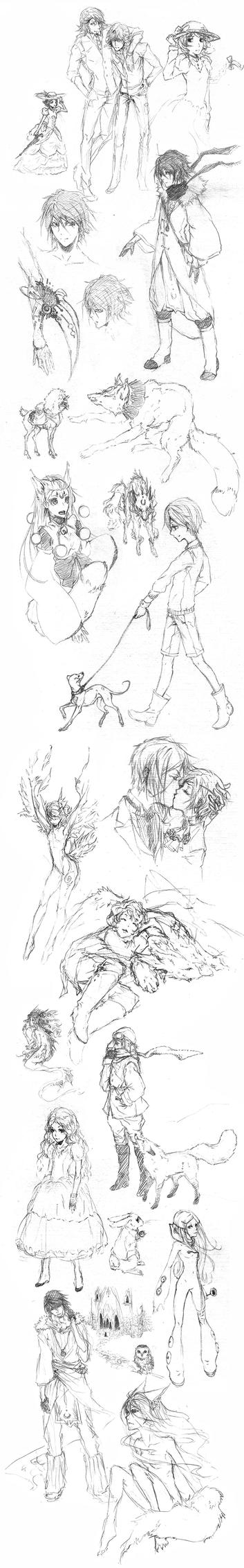 sketch dump 00 by Oinari-Hime