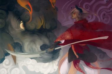 Crimson Battle by Oinari-Hime