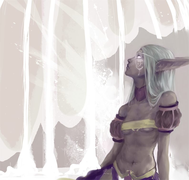 Caged Song Elf WIP by Oinari-Hime