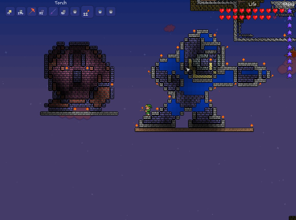 Kirby + Megaman 8-Bit Terraria by Zavern on DeviantArt