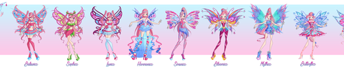 Winx Club - Feelie - All Transformations by Feeleam