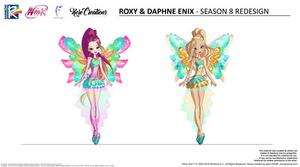 Winx Club - Enix   Roxy and Daphne   Season 8