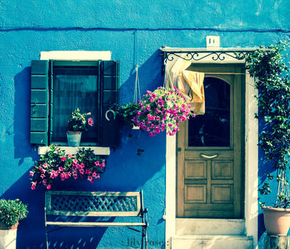 The Blue House.Burano