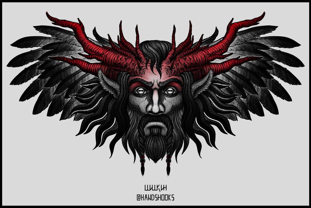 The pagan Slavic god Velez by Hands-hooks