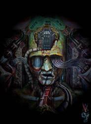 Dead head (fragment of a new painting) by AVirusErothanatoguru