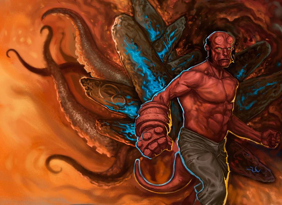 Hellboy by SCiaffaglione