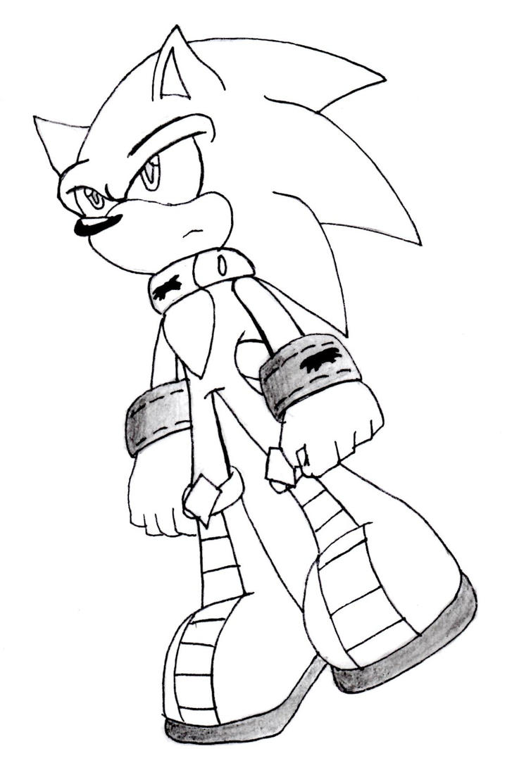 Werehog Sonic Free Coloring Pages Sonic The Werehog Coloring Pages