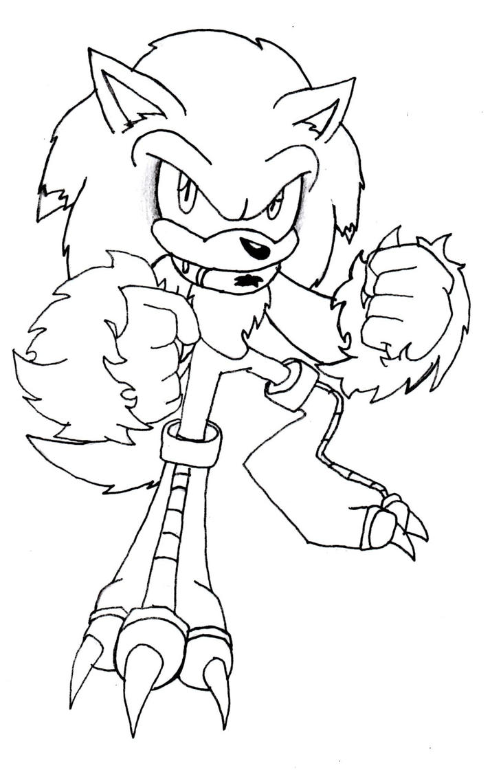 Sonic The Werewolf Coloring Pages Coloring Pages Sonic The Werehog Coloring Pages