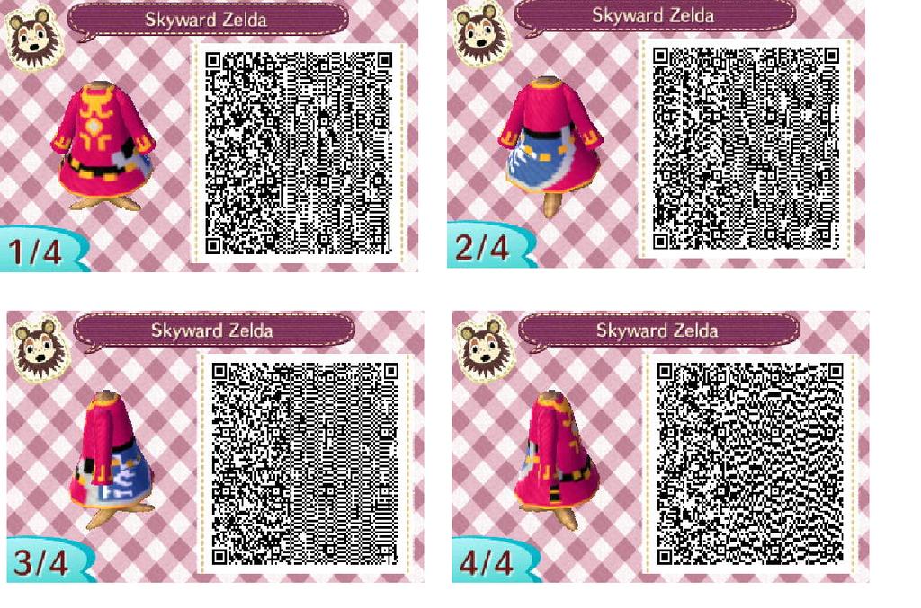 Qr Zelda Dress ... Qr Codes Animal Crossing New Leaf Zelda Flag