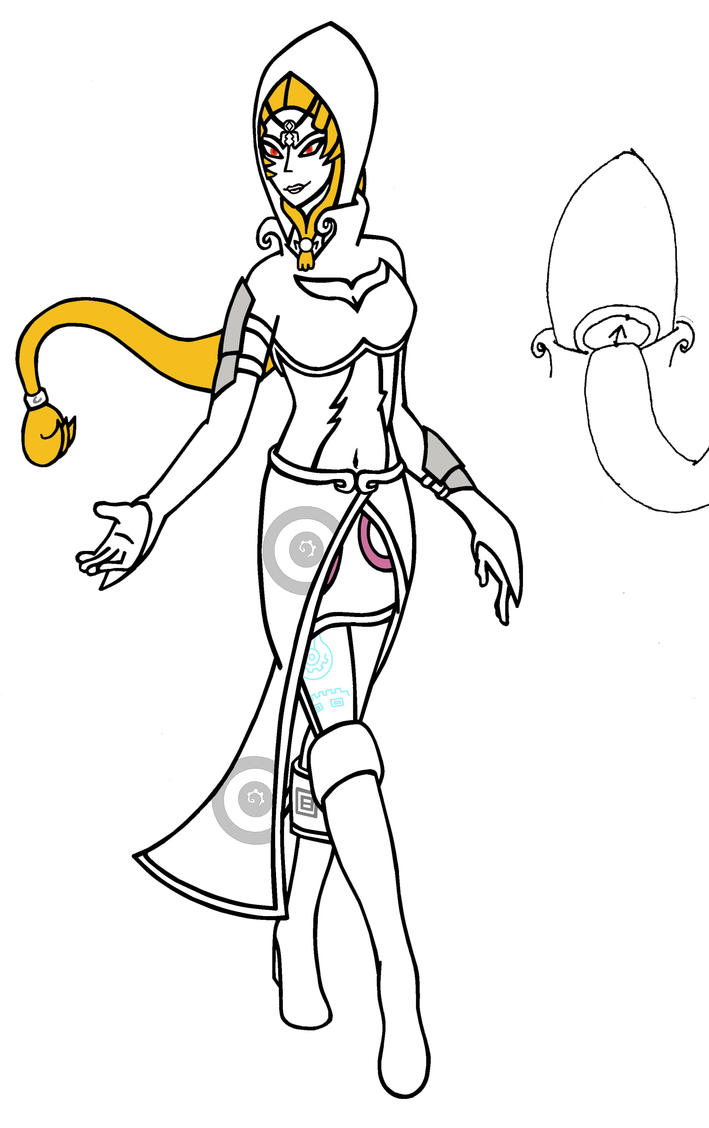 My version of princess midna hyrule warriors by for Midna coloring pages