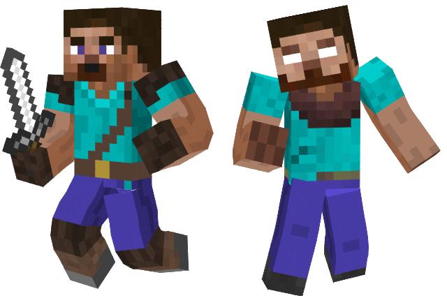 Steve And Herobrine Minecraft Skins By Sonicxjones On Deviantart