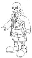 Kingdom Hearts Sans by sonicxjones