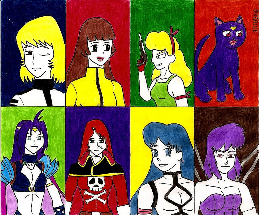 Female Anime Characters 90s : Retro anime female characters by beavers on deviantart