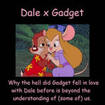Chip 'N Dale Meme About Dale x Gadget by beavers2010