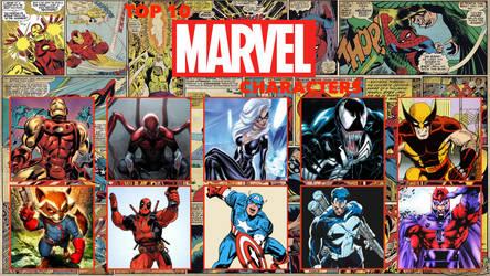 beavers2010's Top 10 Marvel Characters Meme