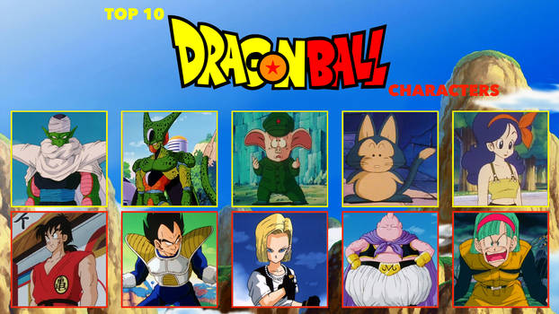 beavers2010's Top 10 Dragon Ball Characters Meme