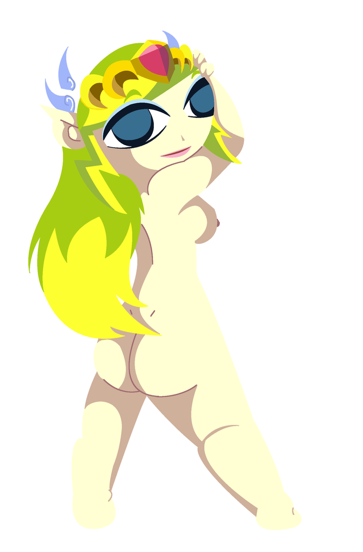 Toon Zelda Nude by The1stMoyatia